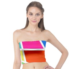 Geometric Blocks Tube Top