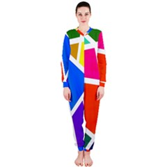Geometric Blocks OnePiece Jumpsuit (Ladies)