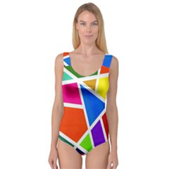 Geometric Blocks Princess Tank Leotard