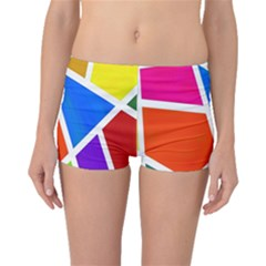 Geometric Blocks Boyleg Bikini Bottoms
