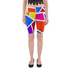 Geometric Blocks Yoga Cropped Leggings