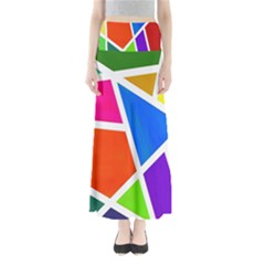 Geometric Blocks Maxi Skirts