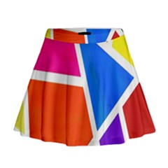 Geometric Blocks Mini Flare Skirt