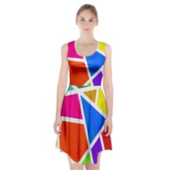 Geometric Blocks Racerback Midi Dress