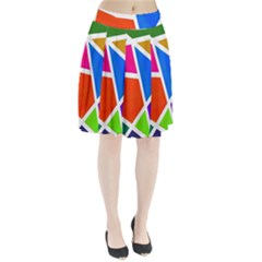 Geometric Blocks Pleated Skirt