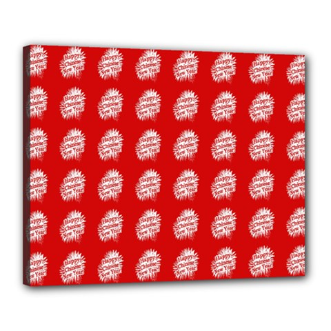 Happy Chinese New Year Pattern Canvas 20  x 16