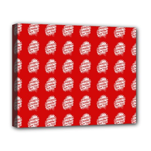 Happy Chinese New Year Pattern Deluxe Canvas 20  x 16