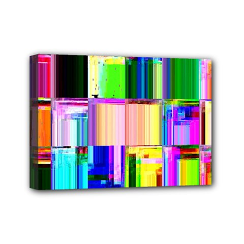 Glitch Art Abstract Mini Canvas 7  x 5