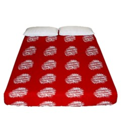 Happy Chinese New Year Pattern Fitted Sheet (queen Size)