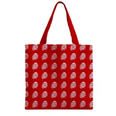 Happy Chinese New Year Pattern Zipper Grocery Tote Bag