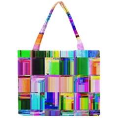 Glitch Art Abstract Mini Tote Bag