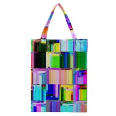 Glitch Art Abstract Classic Tote Bag