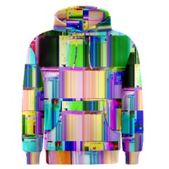 Glitch Art Abstract Men s Pullover Hoodie