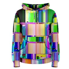 Glitch Art Abstract Women s Pullover Hoodie
