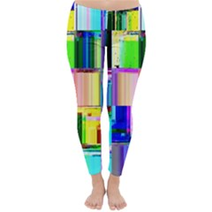 Glitch Art Abstract Classic Winter Leggings