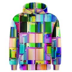 Glitch Art Abstract Men s Zipper Hoodie