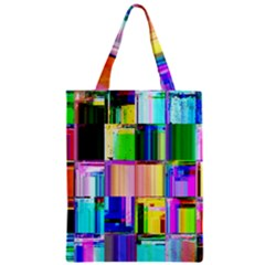 Glitch Art Abstract Zipper Classic Tote Bag