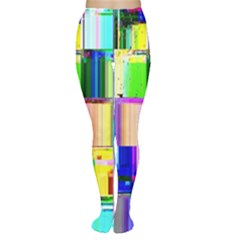 Glitch Art Abstract Women s Tights