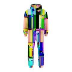 Glitch Art Abstract Hooded Jumpsuit (Kids)