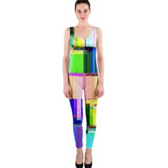 Glitch Art Abstract OnePiece Catsuit