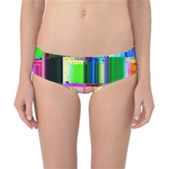 Glitch Art Abstract Classic Bikini Bottoms