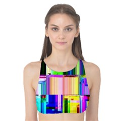 Glitch Art Abstract Tank Bikini Top
