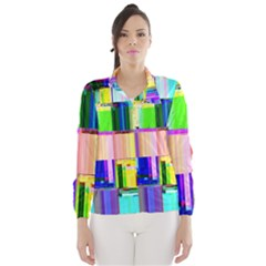 Glitch Art Abstract Wind Breaker (Women)