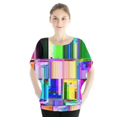 Glitch Art Abstract Blouse