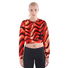 Fractal Mathematics Abstract Women s Cropped Sweatshirt