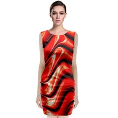 Fractal Mathematics Abstract Classic Sleeveless Midi Dress