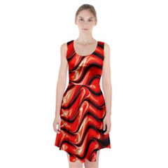 Fractal Mathematics Abstract Racerback Midi Dress