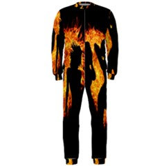Heart Love Flame Girl Sexy Pose OnePiece Jumpsuit (Men)
