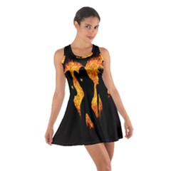 Heart Love Flame Girl Sexy Pose Cotton Racerback Dress