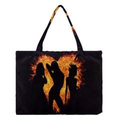 Heart Love Flame Girl Sexy Pose Medium Tote Bag