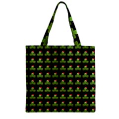 Irish Christmas Xmas Zipper Grocery Tote Bag
