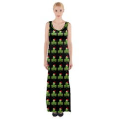 Irish Christmas Xmas Maxi Thigh Split Dress