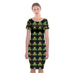 Irish Christmas Xmas Classic Short Sleeve Midi Dress
