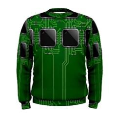 Green Circuit Board Pattern Men s Sweatshirt