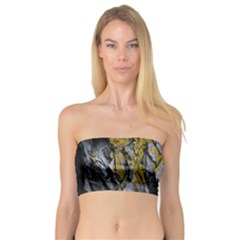 Grey Yellow Stone Bandeau Top