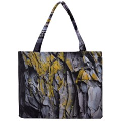 Grey Yellow Stone Mini Tote Bag