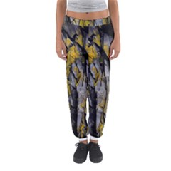 Grey Yellow Stone Women s Jogger Sweatpants