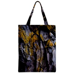 Grey Yellow Stone Zipper Classic Tote Bag