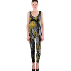 Grey Yellow Stone OnePiece Catsuit