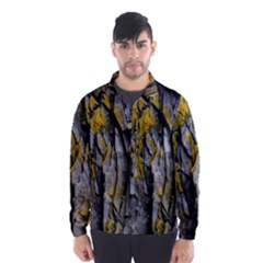 Grey Yellow Stone Wind Breaker (Men)