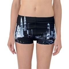 Kuala Lumpur Urban Night Building Boyleg Bikini Bottoms