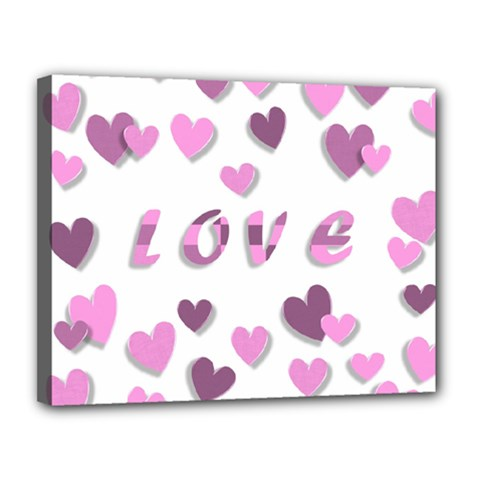 Love Valentine S Day 3d Fabric Canvas 14  x 11