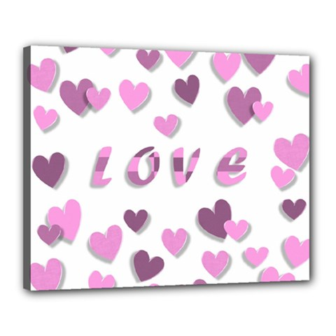 Love Valentine S Day 3d Fabric Canvas 20  x 16