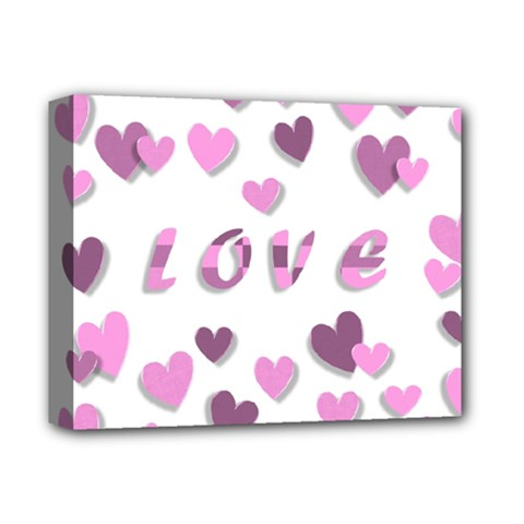 Love Valentine S Day 3d Fabric Deluxe Canvas 14  x 11