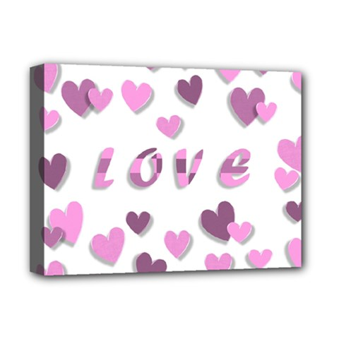 Love Valentine S Day 3d Fabric Deluxe Canvas 16  x 12