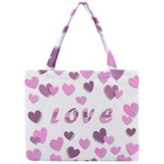 Love Valentine S Day 3d Fabric Mini Tote Bag